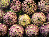 Purple Artichokes Closeup — Foto Stock