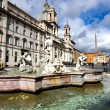 Poseidon fountain, Navona square Rome — Stock Photo