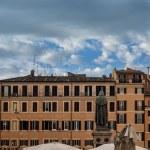 ������, ������: Giordano Bruno statue at Campo Dei Fiori square in Rome Italy