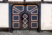 Antique door in Ribe, Denmark — Stock Photo