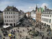 Amagertorv - central square in Copenhagen, Denmark — Stock Photo