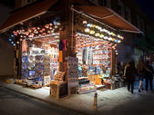 Turkish ceramics and pottery shop in Istanbul — Stok fotoğraf