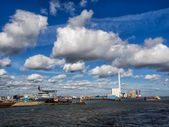 Esbjerg harbor Denmark, Metropol of energy — Stock Photo