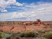 Wukoki Ruins complex in Wupatki national monument, Arizona — Stock Photo