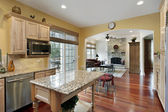在豪华住宅的厨房 — 图库照片