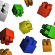 Isolated toy elements — Stock Photo