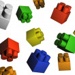 Stock Photo: Isolated toy elements