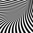 Black and white background. Abstract tunnel. — Foto de Stock