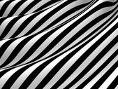 Abstract black and white waves background — Stock Photo