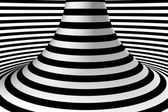Black and white abstract background. Striped mountain. — Stock Photo