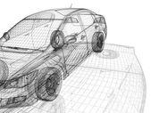 Car wire model — Stock Photo