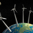 Mega wind turbines on Earth. — Stock Photo