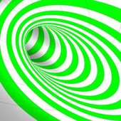 Abstract green tunnel — Stock Photo