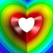 Barevné srdce. barvy duhy. moderní téma. — Stock fotografie