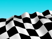 Checker racing flag background — Stock Photo