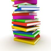 Pile of colour books — Stock Photo
