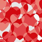 Textura transparente corazones vintage. — Vector de stock