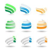 Conjunto de elementos para web design de logotipo — Vetor de Stock