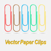 Vector paper clips — Stock Vector