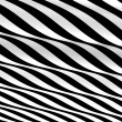 Black and white abstract waves — Stock Photo