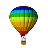 Multicolor hot air balloon — Stock Photo