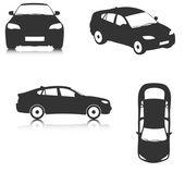 Vector car silhouettes — Stock Vector