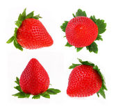 Strawberry set isolated on white — Stock Photo
