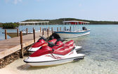 Jet Skis on the beach. Vacation — Stock Photo