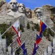 Mount Rushmore National Monument with state flags. South Dakota, USA. — Stock Photo #28696229