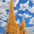 Sand Castle over blue sky — Stock Photo