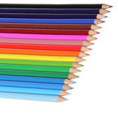 Colorful pencils, isolated on white. Back to school concept. — Stock Photo