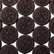 Oreo. Chocolate cookies with cream filling isolated on white. Background. — 图库照片