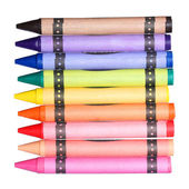 Colored Crayons isolated on white background — Stock Photo