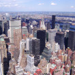 New York City, Manhattan Skyline aerial panorama view with skyscrapers — Stock Photo