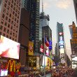Times Square with animated LED signs, Manhattan, New York City. USA, — Stock Photo