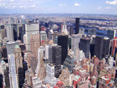 New York City, Manhattan Skyline aerial panorama view with skyscrapers — Stock Photo