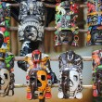 Mayan Colorful Wooden Masks — Stock Photo