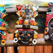 Mayan Colorful Wooden Masks — Stock Photo