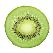 Slice Kiwi Fruit isolated on white background — Stock Photo