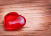 Hearts on Wooden background. Valentines Day — Stock Photo