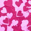 Стоковое фото: Glitter Hot Pink Hearts. Background. Valentines Day
