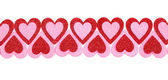 Glitter Red and Pink Hearts isolated. Valentines Day. — Stock Photo