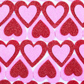 Glitter Red and Pink Hearts. Background. Valentines Day — Stock fotografie
