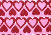 Glitter Red and Pink Hearts. Background. Valentines Day — Stock Photo