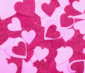Glitter Hot Pink Hearts. Background. Valentines Day — Stock fotografie
