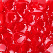 Glass Red Hearts. Valentines Day Background. — Stock Photo