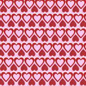 Valentines Day background. Glitter Red and Pink Hearts. — Foto de Stock