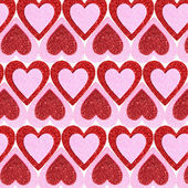Valentines Day background. Glitter Red and Pink Hearts. — Stock Photo
