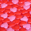 Candy Hearts background. Valentine's Day — Stok fotoğraf