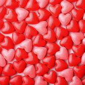 Heart Candy background. Valentine's Day — Stock Photo